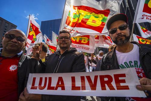 تظاهرات اتحادیههای کارگری در شهر سائوپائولو برزیل