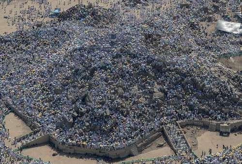 اجتماع هزاران زائر در عرفات مکه/ epa