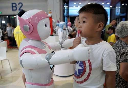 کنفرانس جهانی روبات در شهر پکن چین/ رویترز