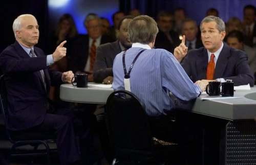 مناظره مک کین با جورج بوش/عکس:آسوشیتدپرس