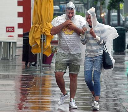 توفان در شهر میامی در ایالت فلوریدا آمریکا