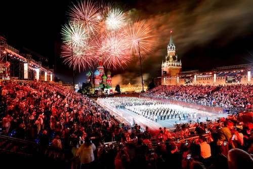 مراسم اختتامیه جشنواره جهانی موزیکهای نظامی در میدان سرخ مسکو/ خبرگزاری آناتولی