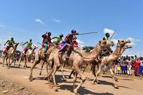 مسابقه سالانه شترسواری در کنیا/ خبرگزاری فرانسه
