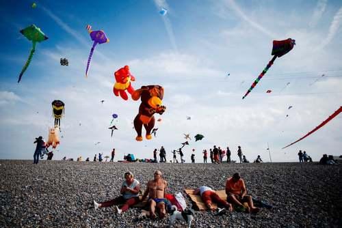 جشنواره بادبادک در سواحل جنوب فرانسه/خبرگزاری فرانسه