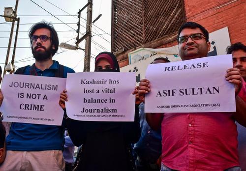 اعتراض جامعه روزنامه نگاران کشمیری به ادامه بازداشت یک روزنامه نگار/ سرینگر