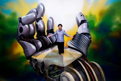 یک نقاشی سه بعدی در موزهای در شهر بانکوک تایلند