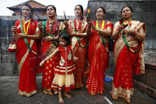 جشنواره آیینی هندوها در کاتماندو نپال