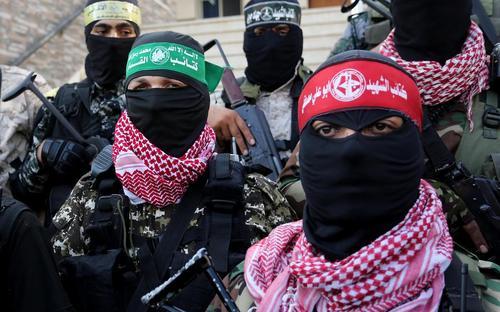 تظاهرات گروههای مسلح فلسطینی در بیست و پنجمین سالگرد انعقاد موافقتنامه اسلو بین عرفات و اسراییل/ باریکه غزه