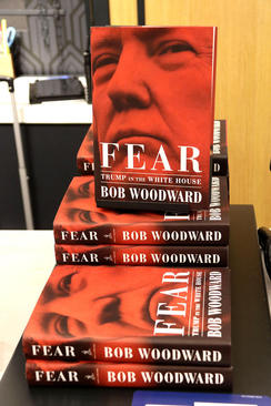 فروش کتاب جنجالی جدید درباره ترامپ در فروشگاهی در شهر نیویورک آمریکا