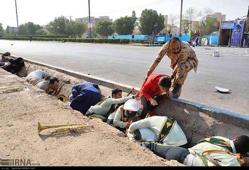 تصاویر/ نجات دهندگان در حمله تروریستی اهواز