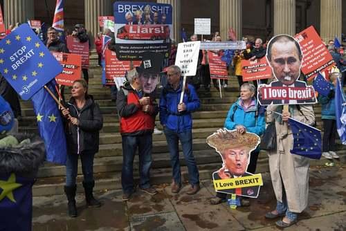 تظاهرات مخالفان خروج بریتانیا از اتحادیه اروپا در لیورپول/خبرگزاری فرانسه