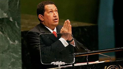 هوگو چاوز - ۲۰۰۶  هوگو چاوز، رئیس جمهوری ونزوئلا، جرج دبلیو بوش، رئیس جمهور ایالات متحده را «شیطان» نامید. او سخنرانی خود را یک روز پس از نطق جرج بوش ارائه کرد و پس از اینکه پشت تریبون قرار گرفت گفت: «شیطان دیروز اینجا سخنرانی کرد، سالن هنوز بوی باروت میدهد».