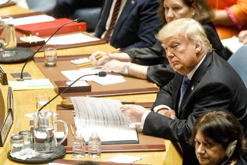 ترامپ در جایگاه ریاست نشست ویژه شورای امنیت درباره موضوع عدم اشاعه سلاحهای هستهای/ ایتارتاس
