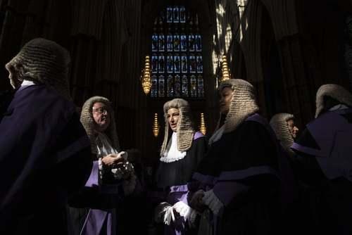 حضور قضات دیوان عالی بریتانیا در کلیسای جامع