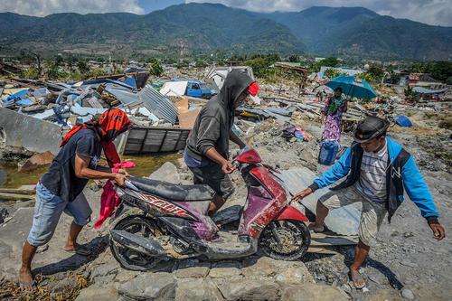 مناطق زلزله و سونامی زده در جزیره