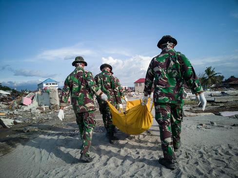 وضعیت مناطق زلزله و سونامی زده اندونزی