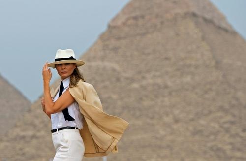 بازدید ملانیا از اهرام مصر