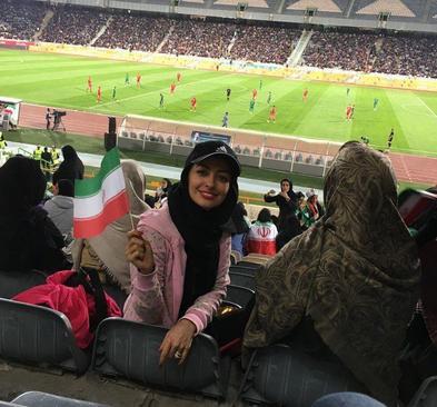 نفیسه روشن تماشاگر دیدار ایران و بولیوی