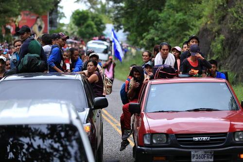 کاروان مهاجران هندوراسی در گواتمالا