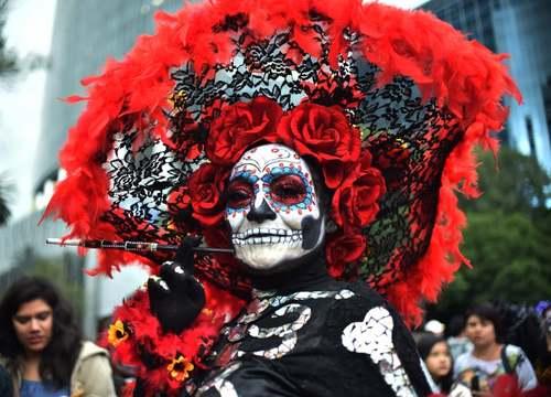 جشنواره سنتی مردگان در مکزیکوسیتی/ خبرگزاری فرانسه
