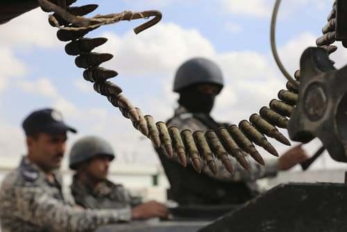 نیروهای مرزبان اردنی در مرز این کشور با سوریه/ آسوشیتدپرس