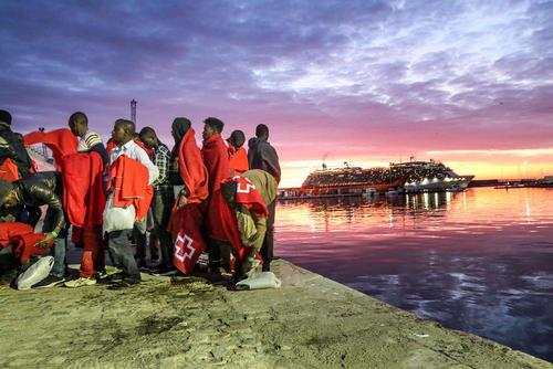 پناهجویان آفریقایی در مالاگا اسپانیا