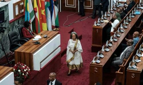 مراسم سوگند نخستین رییسجمهوری زن تاریخ اتیوپی در پارلمان / خبرگزاری فرانسه