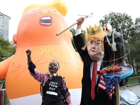 تظاهرات مخالفان ترامپ در نیویورک