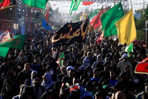 راهپیمایی میلیونی شیعیان به سمت کربلا در اربعین حسینی/ نجف/ رویترز