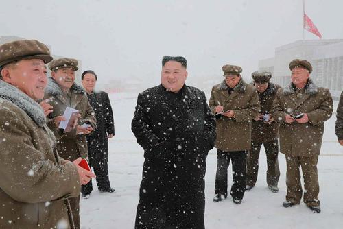 بازدید رهبر کره شمالی از یک پروژه ساخت وساز در استان