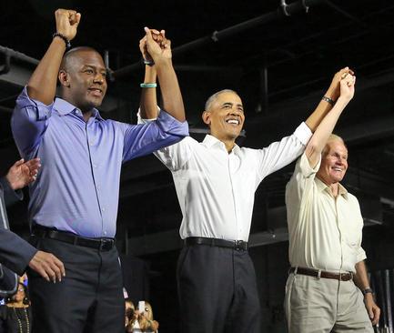 حضور اوباما در کارزار انتخاباتی