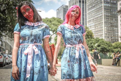 راهپیمایی زامبیها در شهر سائوپائولو  برزیل