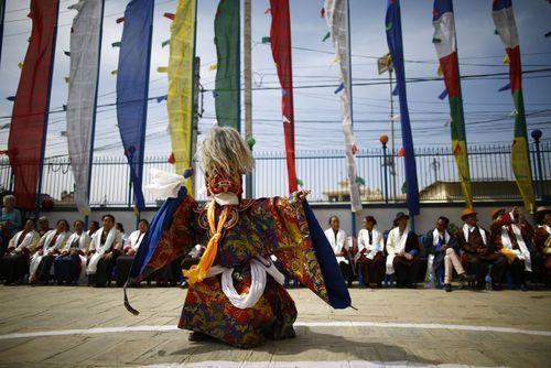جشنواره ای آیینی در کاتماندو نپال/ عکس روز وب سایت