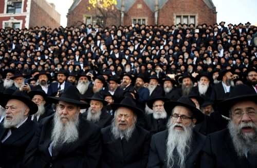 گردهمایی سالانه یهودیان حسیدی در نیویورک/ رویترز