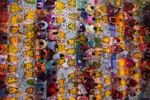 جشنواره هندوهای بنگلادش در معبدی در شهر داکا