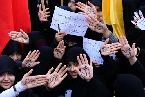 راهپیمایی 13 آبان در تهران/ خبرگزاری فرانسه