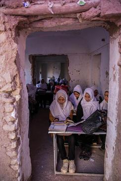 مدرسهای دخترانه در هرات افغانستان/ شینهوا