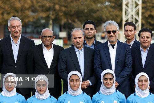 بازدید رییس کنفدراسیون فوتبال آسیا از آکادمی فوتبال دختران ایران (عکس)