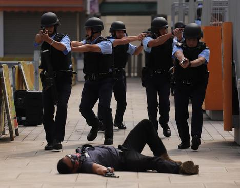 رزمایش ضد تروریستی پلیس هنگ کنگ