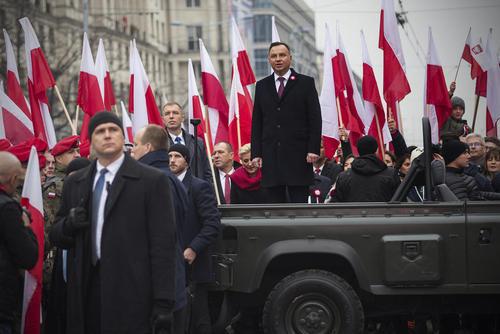 سخنرانی رییس جمهوری لهستان در مراسم یکصدمین سالگرد پایان جنگ اول جهانی در ورشو