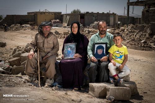 صدرا ویسی (7 ساله، دانش آموز) ، نادر ویسی (38 ساله، کارگر) ، پرستو رضایی 30 ساله، خانه دار) و یارسن ویسی (70 ساله، بازنشسته)، خانواده ای که در زلزله کسری هشت ساله و لیمو خانلری 60 ساله را از دست داده اند.