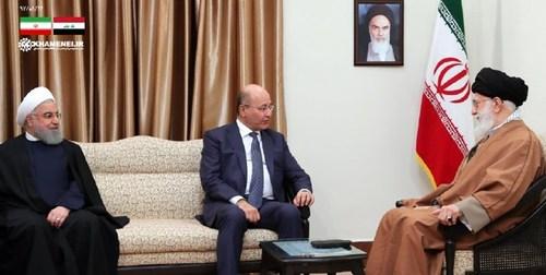 دیدار رئیس جمهوری عراق با رهبر انقلاب