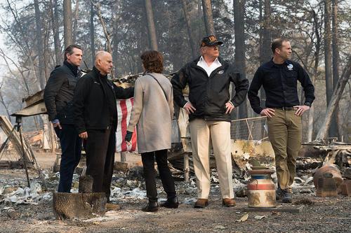 بازدید ترامپ از شهر کاملا سوخته