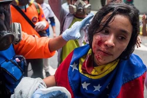 تظاهرات دانشجویی در شهر کاراکاس ونزوئلا/EPA