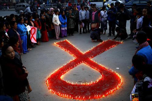 مراسم روز جهانی ایدز در کاتماندو نپال