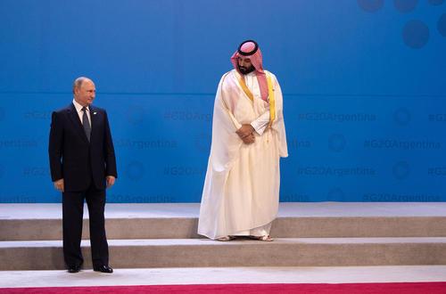 ولیعهد سعودی و رییس جمهوری روسیه در انتظار دیگر رهبران