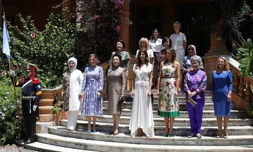 عکس یادگاری همسران رهبران