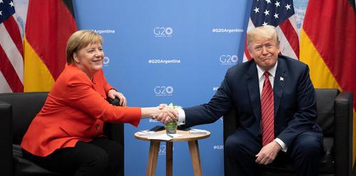دیدار دوجانبه مرکل و ترامپ در حاشیه نشست سران گروه بیست در