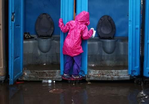 سیلاب در اردوگاه اسکان موقت مهاجران آمریکای مرکزی در مرز مکزیک و ایالات متحده آمریکا/ رویترز