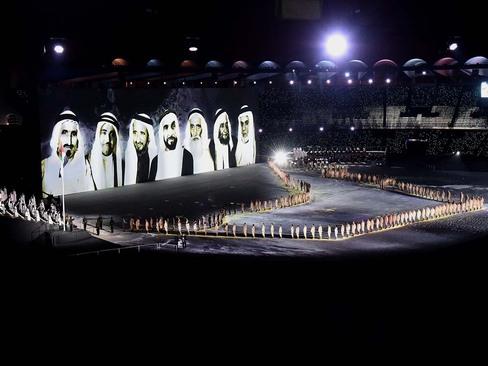 مراسم چهل و هفتمین سالگرد روز ملی کشور امارات متحده عربی در استادیوم